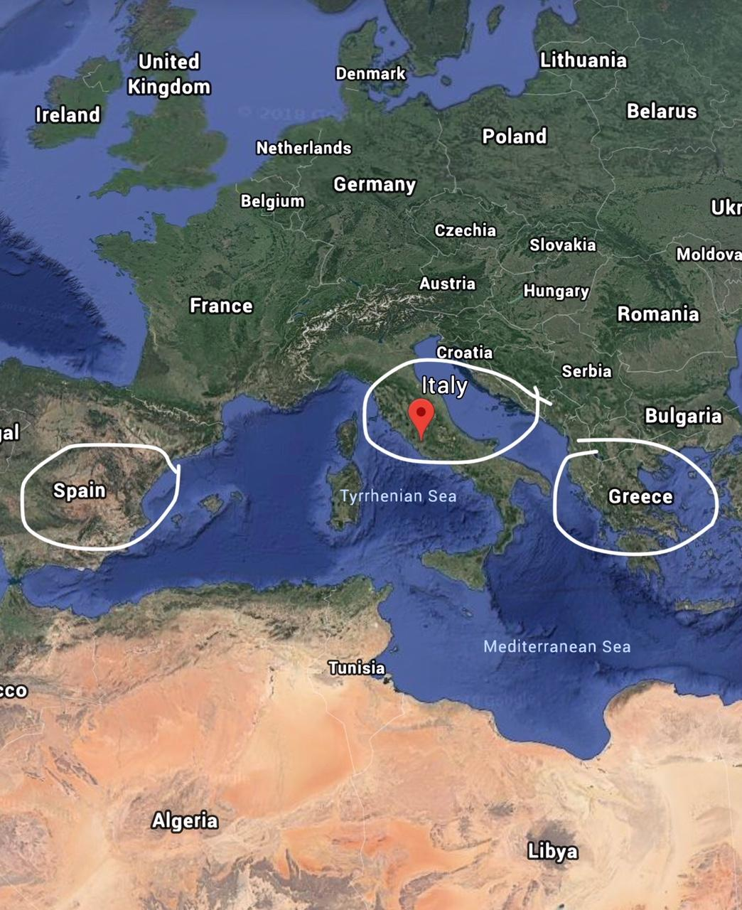 Map Of Spain And Greece.Italy Spain And Greece 10 Day Itinerary For First Time Visitors